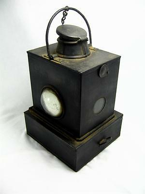 Vintage L.M.S. Railway Oil Lamp Superb Condition Complete With Glass LMS Train