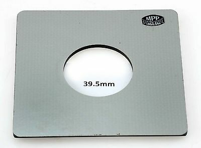 M.P.P Lens Board (39.5mm Hole) - For The Mk.8 Field Camera, Will Not Fit Earlier