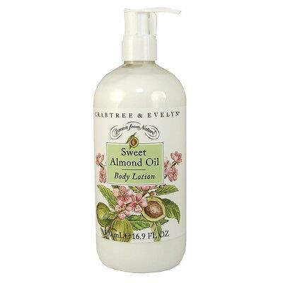 Crabtree & Evelyn Sweet Almond Oil  Scented Body Lotion 16.9 Oz