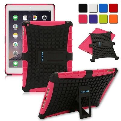 For Apple iPad 4 3 2 Tough Shockproof Rugged Hard Heavy Duty Case Cover Pink