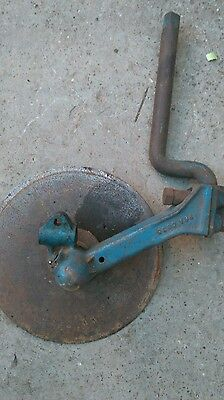 Ransomes plough left hand disc and bracket