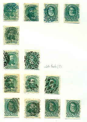 D125 Brazil Brasil Classic. Cancel Collection. 3 Sheets. Very Fine.