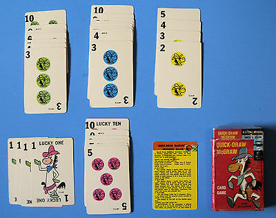 "VINTAGE CARD GAME—QUICK-DRAW McGRAW—1961—WITH ""WILD CARDS""—FREE ITEM—By EDU-CARD"