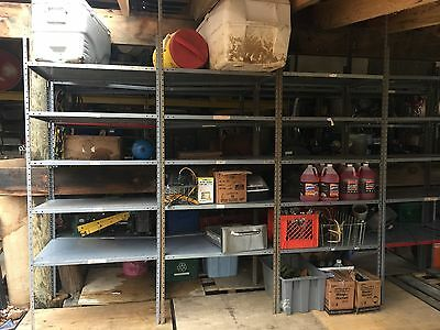 "REPUBLIC INDUSTRIAL SHELVING 24"" x36 "" REINFORCED RATED 400LBS PER SHELF W/CLIPS"