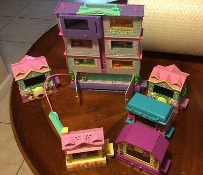 Pixel Chix Apartment Cottage Pink 3 Story House Interactive Roomie Lot Of 6