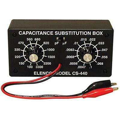 Elenco Capacitor Substitution Box Soldering Kit [ SOLDERING REQUIRED ] New