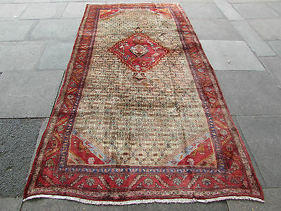 Old Traditional Persian Rugs Wool Brown Oriental Hand made Rug 295x148cm