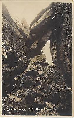 Subway, Mount Mansfield, Real Photo, Unusual Rock Formation.