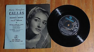 "'Puccini Operatic Arias' MARIA CALLAS 7"" 7 inch single EP Columbia SEL 1546"