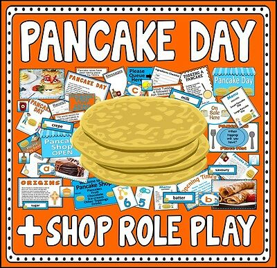 Cd Pancake Day And Shop Role Play Teaching Resources Eyfs Ks1-2 Food Traditions