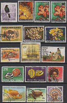 Papua New Guinea  Selection Of Used Stamps
