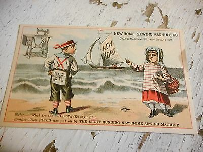 Antique New Home Sewing Machine Company  Trade Card