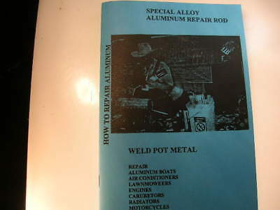 Weld Pot Metal Repair Aluminum With Propane Torch Instruction Book