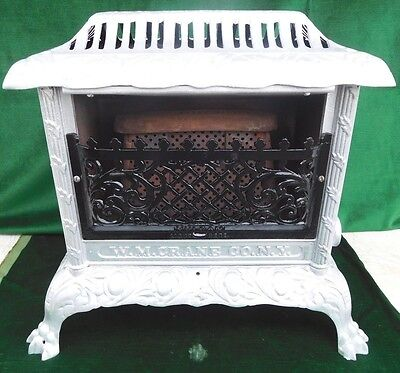 1910 Antique Vulcan Cast Iron Gas Heater - Claw Feet - W.M. Crane Co., NY NICE!