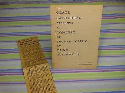 duke ellington 1965 concert program grace cathedral presents sacred music