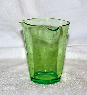 Old Green Depression Glass by Federal Three Sprout Measuring Cup