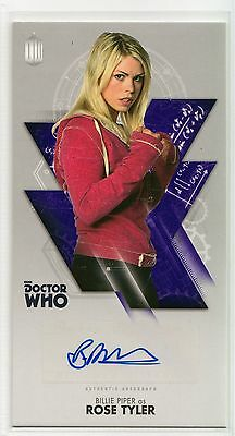 Dr Who Tenth Adventures Widevision Billie Piper - Rose Tyler Autograph Card