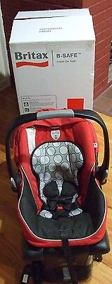 BRITAX B-SAFE INFANT CAR SEAT to 30 lbs RED with BASE & Original Box $250 RETAIL