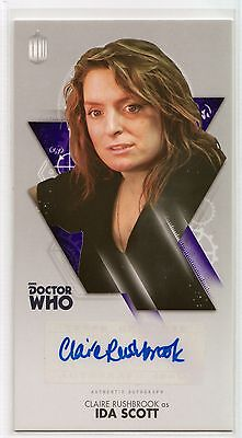 Dr Who Tenth Adventures Widevision Claire Rushbrook as Ida Autograph Card