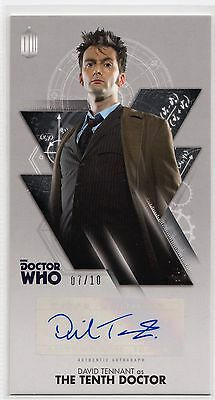 Dr Who Tenth Adventures Widevision David Tennant Silver Autograph Card 07/10