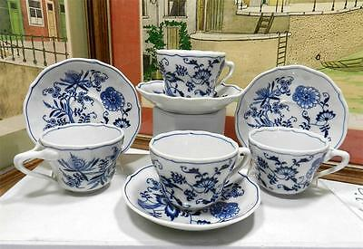 "4 Blue Danube Blue Onion 2 1/2"" Cup & Saucer Sets"