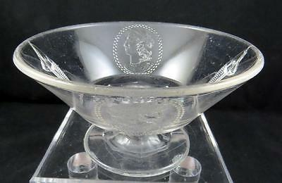 """Eapg Richard & Hartley Classic Medallion Cameo Handled 6 3/4"""" Footed Compote"""