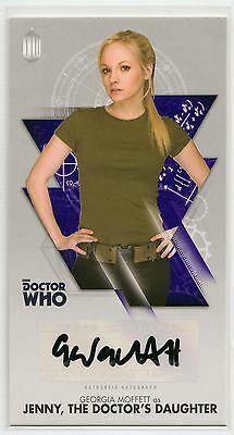Dr Who Tenth Adventures Widevision Georgia Moffett as Jenny Autograph Card