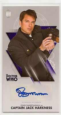Dr Who Tenth Adventures Widevision John Barrowman - Jack Harkness Autograph Card