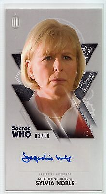 Dr Who Tenth Adventures Widevision Jacqueline King Silver Autograph Card 03/10