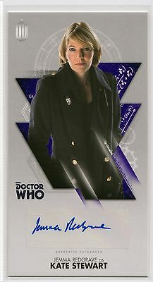 Dr Who Tenth Adventures Widevision Jemma Redgrave as Kate Stewart Autograph Card