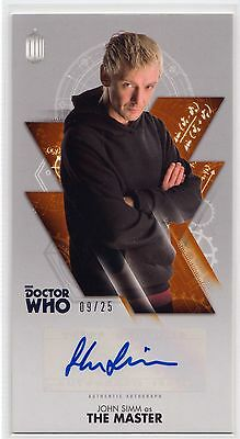 Dr Who Tenth Adventures John Simm as The Master Bronze Autograph Card 09/25