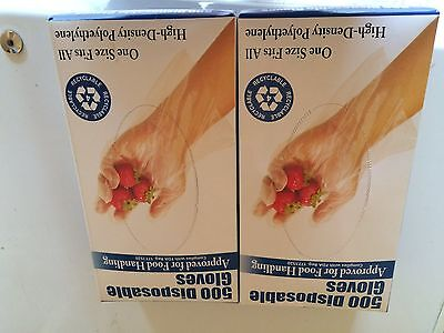 Daily Chef Plastic Disposable Food Handling Gloves One Size - 1000 Count