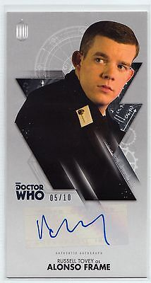 Dr Who Tenth Adventures Widevision Russell Tovey Silver Autograph Card 05/10