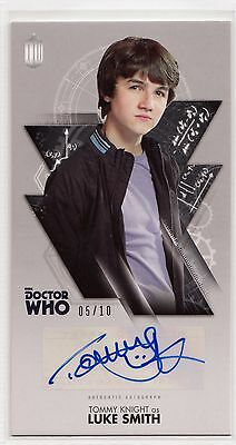 Dr Who Tenth Adventures Widevision Tommy Knight Silver Autograph Card 05/10