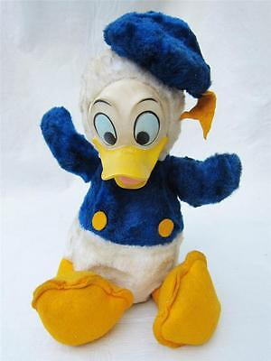 Vintage 60s Walt Disney Production DONALD DUCK California Stuffed Toy VINYL FACE