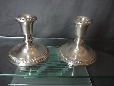 BEAUTIFUL Frank M. Whiting Sterling Candle Holders #2074 FREE SHIPPING