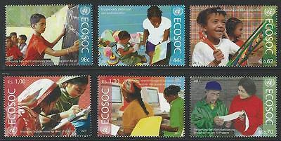 United Nations 2011 MNH ECOSOC Singles From All 3 Offices