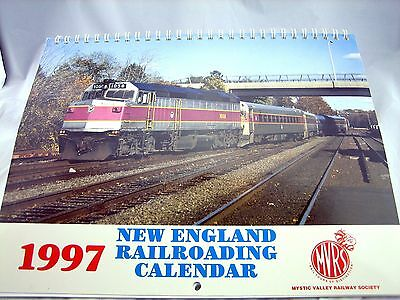 1997 New England Railroading Mystic Valley Railway Society Calendar Full Color