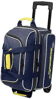 Storm 2 Ball Roller Bowling Bag with Wheels Color Navy & Grey NEW
