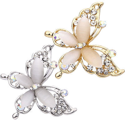 Women Butterfly Gold/Silver Plated Crystal Rhinestone Brooch Pin Fashion Jewelry