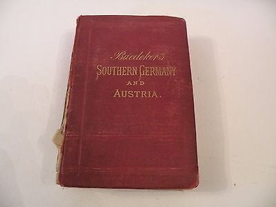 WPW103 BAEDECKER 1887 S. GERMANy & AUSTRIA incl Hungary & Transylvania MANY MAPS