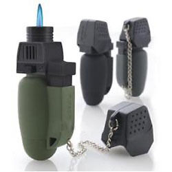 NEW Military Turbo Flame Lighter/Blowtorch Gadget GREEN