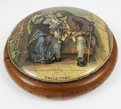 19th Century Framed Pot Lid Uncle Toby