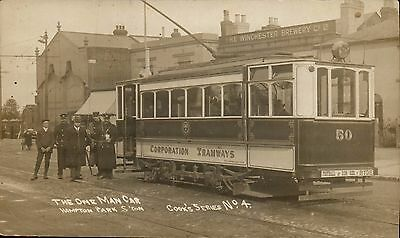 Southampton Corporation Tramways. The One Man Tram Car, Hampton Park # 4 by Cook