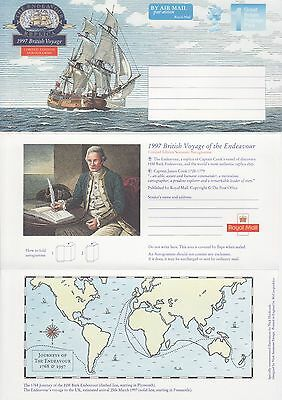 GB Stamps Aerogram / Air Letter APS125 - 1st NVI Captain James Cook Issue 1997
