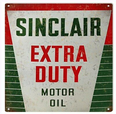 Sinclair Extra Duty Motor Oil And Gas Station Reproduction Metal Sign