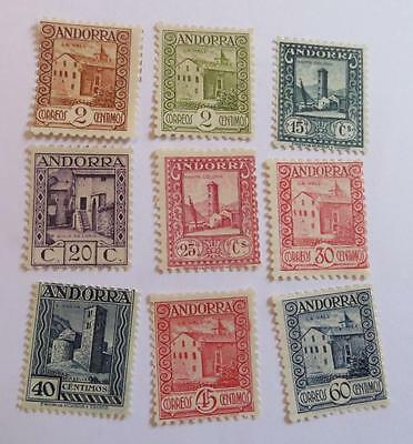 Spain Andorra 1929 small collection unused