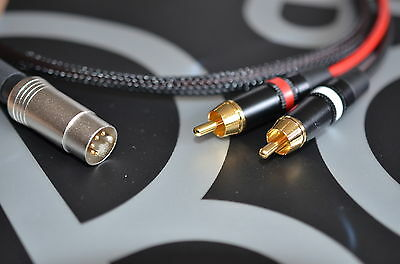 HQ 2 Phono / RCA to B&O Bang & Olufsen Naim Quad (5 Pin Din) Cable/Lead 1m