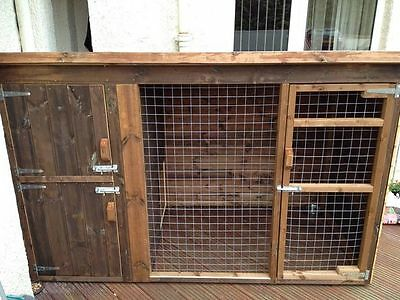 Single  Dog Kennel And Run 4X8Ft