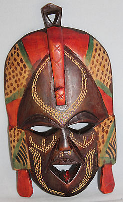 """Small Hand Carved & Painted African Tribal Mask  Approx 6"""""""
